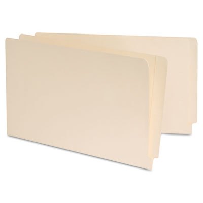 Manila Reinforced Shelf Folder, Legal, 100/Box