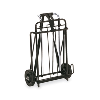 Luggage Cart, 250lb Capacity, 15 x 14 Platform, Black/Chrome