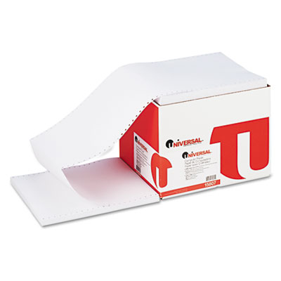 Computer Paper, 20lb, 9-1/2 x 11, Letter Trim Perforation, White