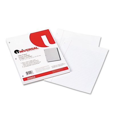 Mediumweight 16-lb. Filler Paper, 11 x 8-1/2, Wide Ruled, White,
