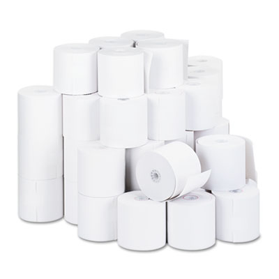 "1-Ply Cash Register/Point of Sale Roll, 16 lb, 1/2"" Core, 2-3/4"""
