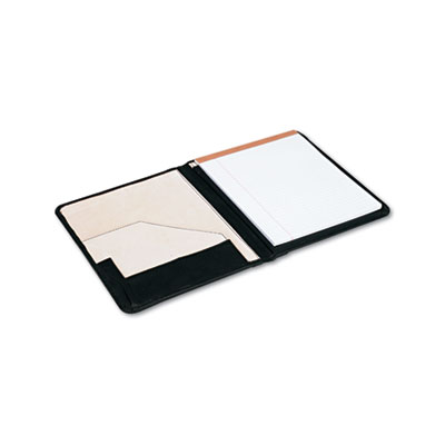 Pad Holder, Suede-Lined Leather, w/Writing Pad, Inside Flap Pock