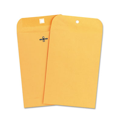 Kraft Clasp Envelope, Side Seam, 28lb, 6 1/2 x 9 1/2, Light Brow