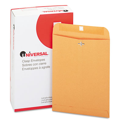 Kraft Clasp Envelope, Side Seam, 28lb, 9 x 12, Light Brown, 100/