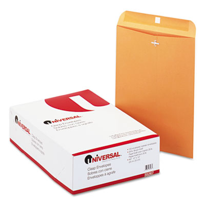 Kraft Clasp Envelope, Side Seam, 28lb, 10 x 13, Light Brown, 100