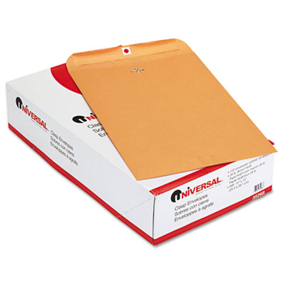 Kraft Clasp Envelope, Side Seam, 28lb, 10 x 15, Light Brown, 100