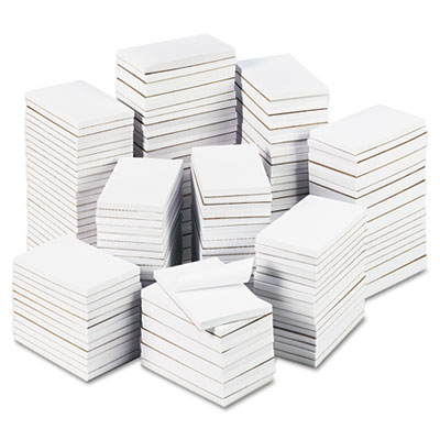 Bulk Scratch Pads, Unruled, 3 x 5, White, 180 100-Sheet Pads/Car