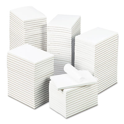Bulk Scratch Pads, Unruled, 4 x 6, White, 100-Sheet Pads, 120 Pa