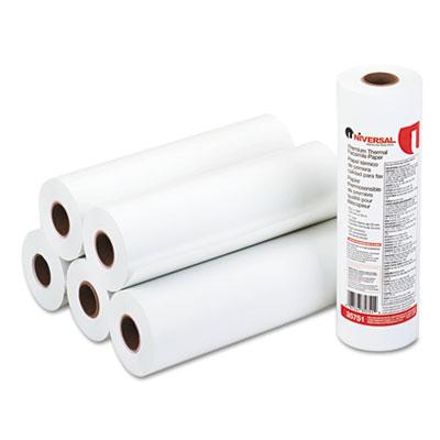 """Economical Thermal Facsimile Paper, 1"""" Core, 8-1/2"""" x 164 ft, 6/"""