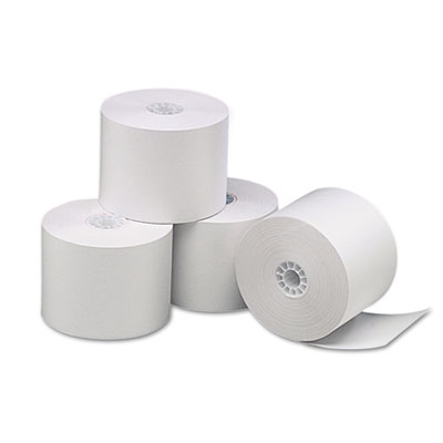 "Single-Ply Thermal Paper Rolls, 2 1/4"" x 85 ft, White, 3/Pack"
