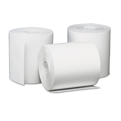 "Single-Ply Thermal Paper Rolls, 3 1/8"" x 230 ft, White, 50/Carto"