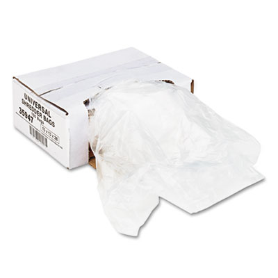 High-Density Shredder Bags, 16 gal Capacity