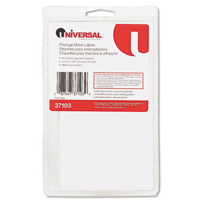 Self-Adhesive Postage Meter Labels, 1-1/2w x 2-3/4 or 5-1/2, WE,