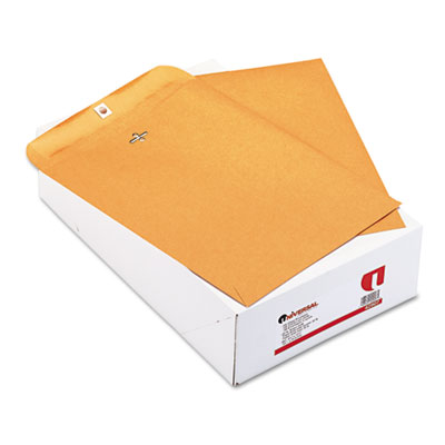 Kraft Clasp Envelope, Side Seam, 32lb, 9 1/2 x 12 1/2, Light Bro