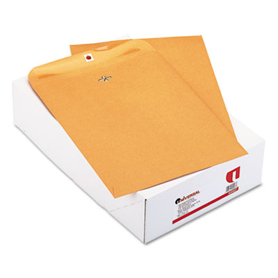 Kraft Clasp Envelope, Side Seam, 32lb, 10 x 13, Light Brown, 100