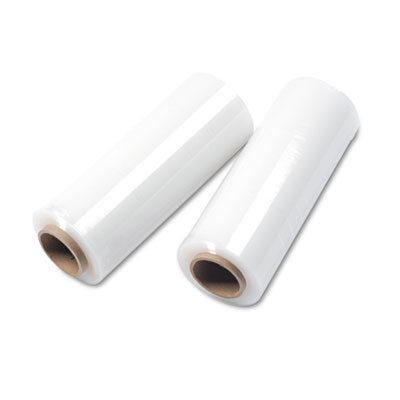 Handwrap Stretch Film, 14w x 1500ft Roll, 20mic (80-Gauge), 4/Ca
