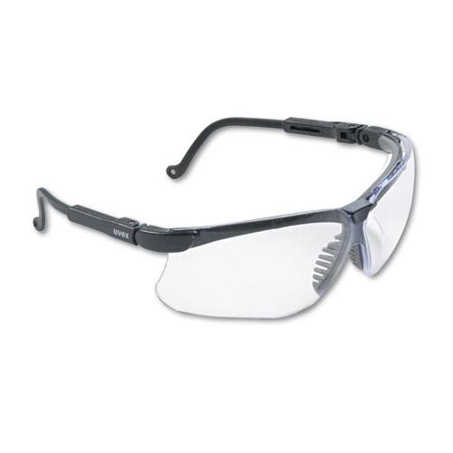 Genesis Wraparound Safety Glasses, Black Plastic Frame, Clear Lens ...