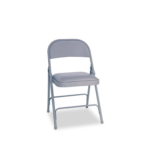 Alera Steel Folding Chair w/Padded Seat, Light Gray, 4/Carton at Sears.com