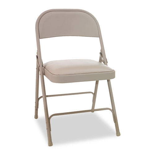 Alera Steel Folding Chair w/Padded Seat, Tab, 4/Carton at Sears.com