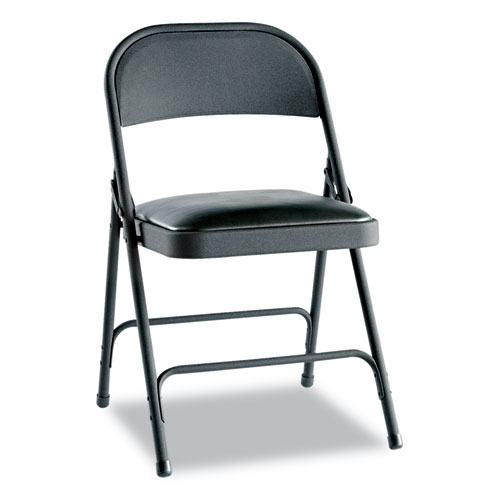 Alera Steel Folding Chair w/Padded Seat, Graphite, 4/Carton at Sears.com