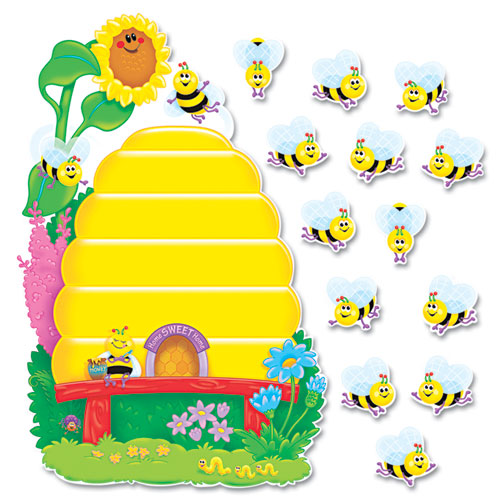 Welcome Charts For Classroom Decoration ~ Busy bees job chart plus bulletin board set quot