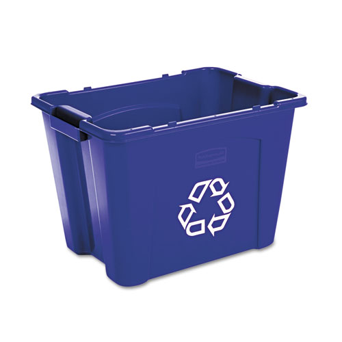 Stacking Recycle Bin Rectangular Polyethylene 14gal Blue  RCP571473BE moreover Bags On Wheels besides Rubbermaid Trash Cans 32 Gallon in addition Index also 007 FGL1530. on rubbermaid replacement bags