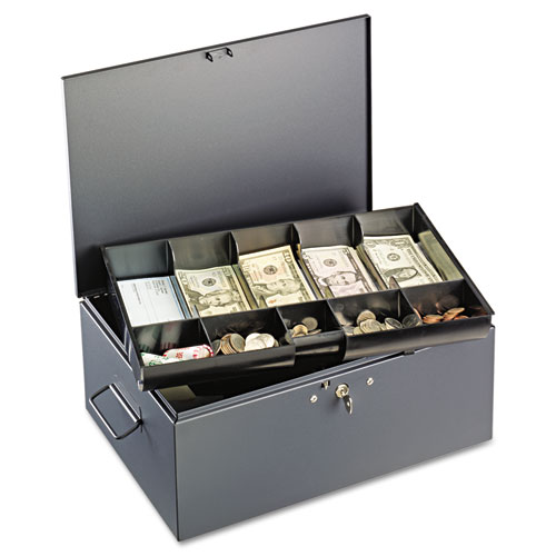 Steelmaster 221f15tgra Extra Large Cash Box With Handles