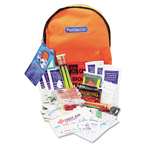 ACM90001 Physicianscare Emergency Preparedness First Aid Backpack, 63 Pieces/Kit