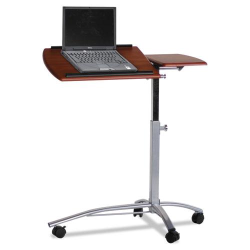 Eastwinds Laptop Computer Caddy, 29½w x 20d x 27-38h, Medium Cherry MLN950MEC