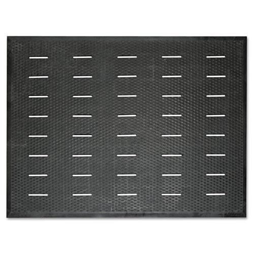 Guardian Free Flow Comfort Utility Floor Mat, 36 x 48, Black