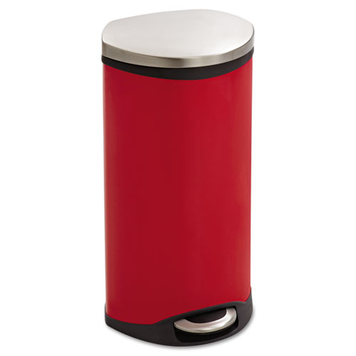 Safco Products Step-On Medical Receptacle 7.5gal Red
