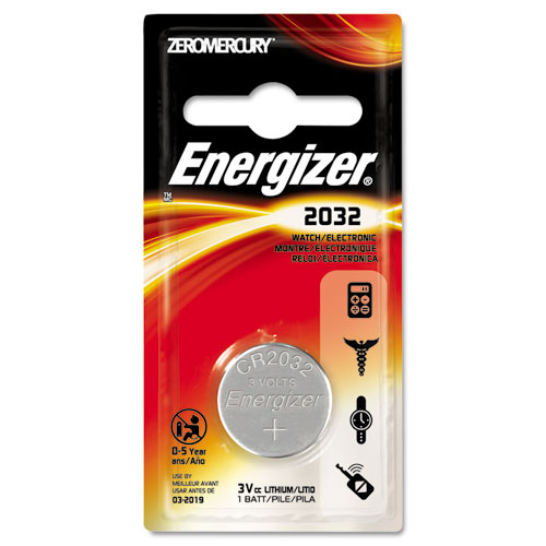 EVEECR2032BP Energizer Watch/Electronic/Specialty Battery, 2032, 3 Volt photo