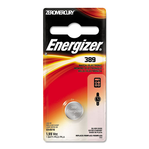 EVE389BPZ Energizer Watch/Electronic Battery, Silvox, 389, 1.5V, Mercfree photo