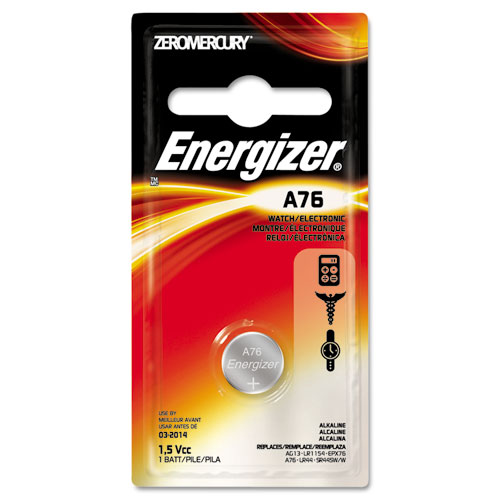EVEA76BPZ Energizer Watch/Electronic Battery, Alkaline, A76, 1.5V, Mercfree photo