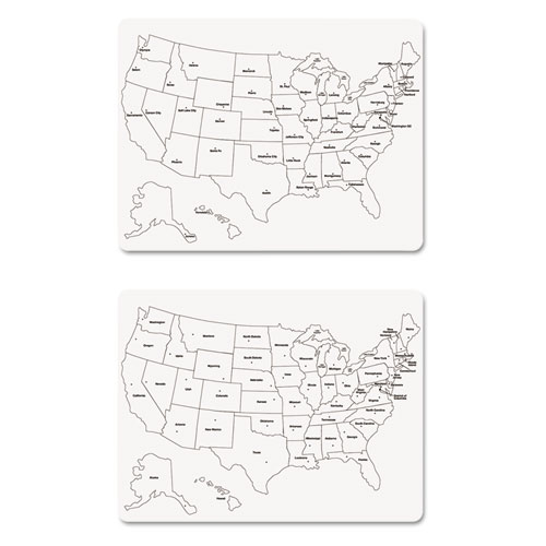TwoSided US Map Whiteboard X - Us map whiteboard