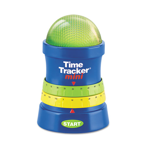 LRNLER6909 Learning Resources Time Tracker Mini Timer, 3 1/4W X 3 1/4D X 4 3/4H, Blue/Green/Red/Yellow photo
