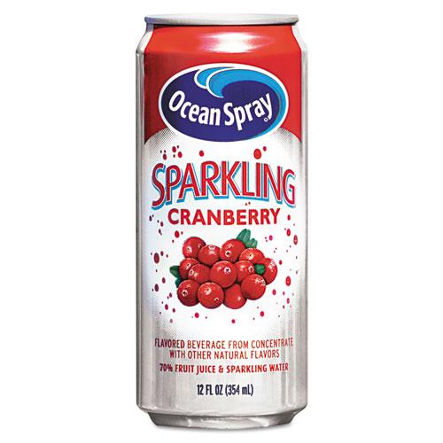 Sparkling Cranberry Juice, 12oz Can, 12/Carton - CompleteOfficeUSA.com