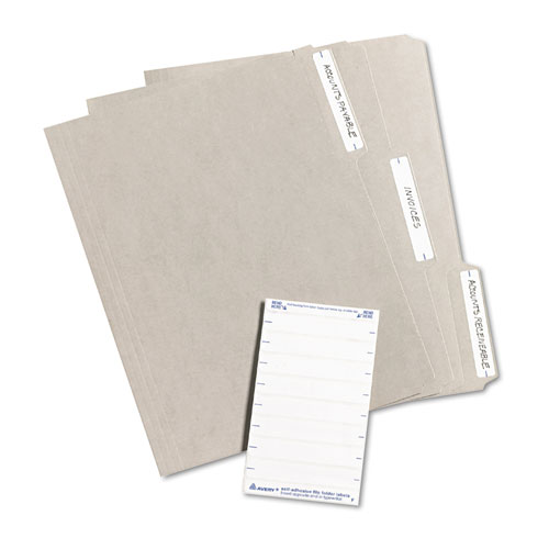 Avery 5202 print or write file folder labels 11 16 x 3 7 for Avery 5202 label template
