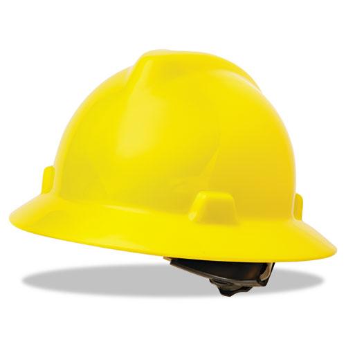 v gard full brim hard hats ratchet suspension size 6 1 2 8 yellow yoursuppliesnow. Black Bedroom Furniture Sets. Home Design Ideas