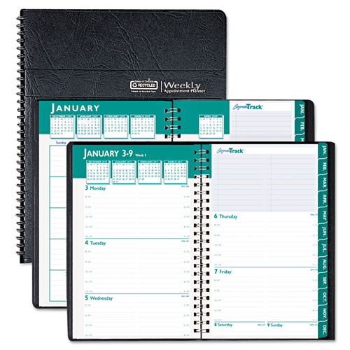 Weekly Monthly Appointment Book 8 1 2 x 11 Black 2015 2016 HOD29602