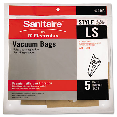 EUR63256A10 Eureka Commercial Upright Vacuum Cleaner Replacement Bags, 5/Pack photo