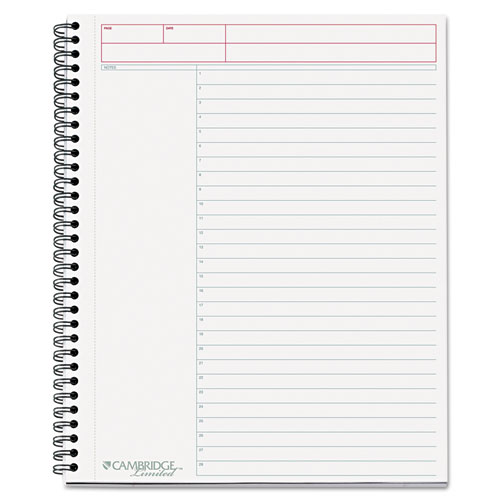MEA06064 Cambridge Side-Bound Guided Business Notebook, Action Planner, 8 7/8 X 11, 80 Sheets