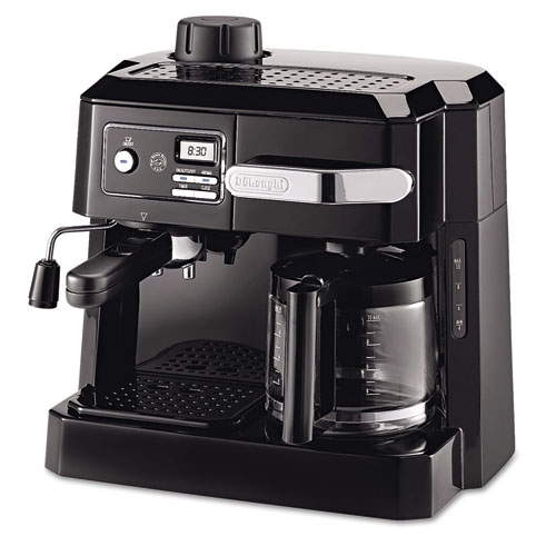 DLOBCO320T Delonghi Bco320t Combination Coffee/Espresso Machine, Black/Silver photo