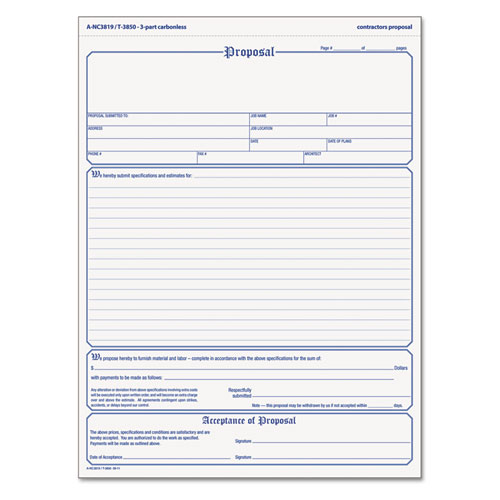 free construction proposal form templates
