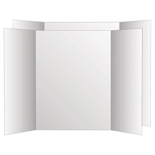 Two Cool Tri-Fold Poster Board, 36 x 48, White/White, 6/Carton