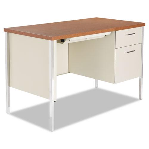 Superwarehouse Single Pedestal Steel Desk Metal Desk