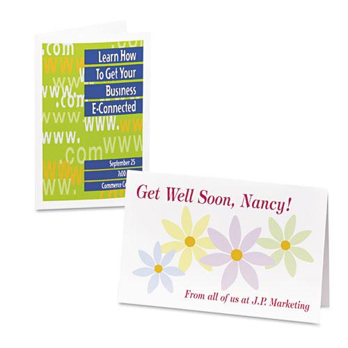 avery 3265 half fold greeting cards inkjet 5 1 2 x 8 1 2