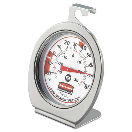 PELR80DC Rubbermaid Commercial Refrigerator/Freezer Monitoring Thermometer, -20 photo