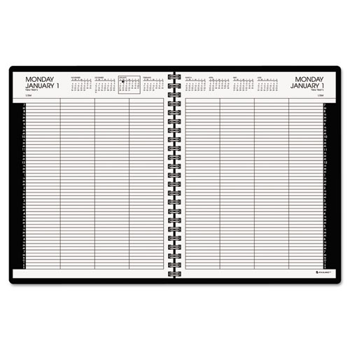 AAG7021276 At A Glance Eight Person Group Practice Daily Appointment Book 8 12 X 11 Black 2016