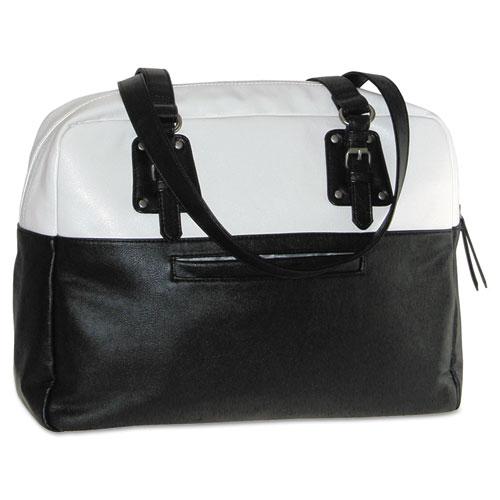 """Buxton Santorini Laptop Tote, 16"""" x 5 3/4"""" x 13 3/4"""", Black/White at Sears.com"""
